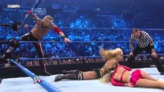 getlinkyoutube.com-WWE Smackdown 4/2/11  Dolph Ziggler & LayCool vs Kelly Kelly & Edge (World Heavyweight Championship)