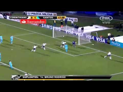 Corinthians 1 - 1 Santos Copa Libertadores 2012