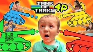 getlinkyoutube.com-TANK OF TANKS!  FGTEEV FAMILY 4 PLAYER CHAOTIC ONE MINUTE DEATHMATCH BATTLE!