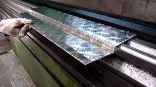 Como plegar chapas de aluminio antideslizante - To fold for non-slip aluminium sheets