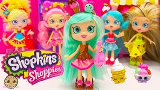 getlinkyoutube.com-Shopkins Shoppies Doll Peppa Mint with Season 4 Exclusives VIP Card - Cookieswirlc Toy Video