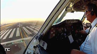 getlinkyoutube.com-AeroMexico Boeing 767 Mexico City to New York JFK Cockpit Captain Side - Cabina de Pilotos