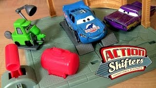 getlinkyoutube.com-Cars Ramone's Body Shop 2014 Ramone Paints Dinoco Lightning McQueen Blu-Ray Car Action Shifters