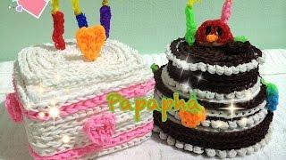 getlinkyoutube.com-[Papapha] - สอนถักหนังยาง Rainbow Loom เป็นเค้กวันเกิด