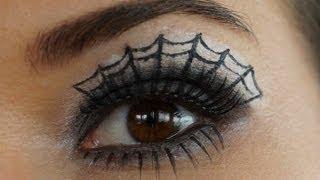 getlinkyoutube.com-How to do Spider Web Eye Make-up- Tutorial