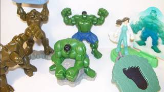 getlinkyoutube.com-2008 BURGER KING INCREDIBLE HULK FAST FOOD TOY SET FIGURE REVIEW