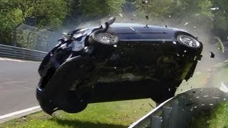 Heavy VW Golf 5 GTI Crash Unfall Nordschleife Nürburgring Touristenfahrt 01.05.2014