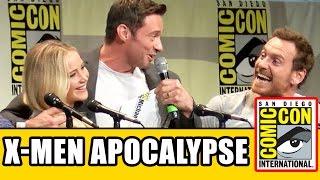 getlinkyoutube.com-X-Men: Apocalypse Comic Con Panel - Jennifer Lawrence, Michael Fassbender, Hugh Jackman