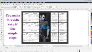 getlinkyoutube.com-Calendar in Coreldraw (Easy Quick & Simple)