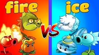 getlinkyoutube.com-Plants vs Zombies 2 FIRE vs ICE