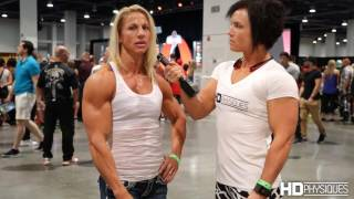 getlinkyoutube.com-Awesome Biceps - Jen Louwagie, IFBB Physique Pro, Intervew - 2016 Olympia Expo