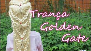getlinkyoutube.com-Trança Golden Gate, trança embutida, Golden Gate braid - Telma tranças