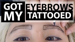 getlinkyoutube.com-Eyebrow Tattoo Before and After ♥ Everything you need to know 3D Korean Eyebrow Tattoo Temporary