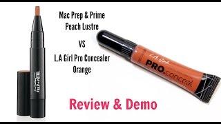 getlinkyoutube.com-Orange Concealers Mac vs L.A Girl Pro HD Concealer Orange | Makeup With Raji