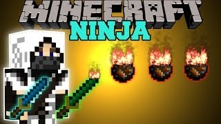 getlinkyoutube.com-Minecraft: NINJA MOD (BECOME A NINJA AND USE EPIC KATANAS WITH ABILITIES!) Mod Showcase