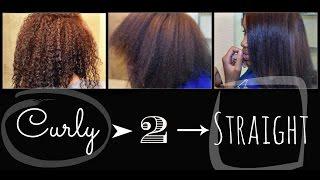 getlinkyoutube.com-Straightening Natural Hair: Blowout + Flat Iron