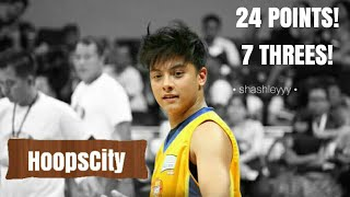 Daniel Padilla hoops for hope basketball game, 24 points, 7 Threes