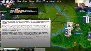 getlinkyoutube.com-AGEOD's Civil War 2 - Tutorial: Basic Rules Part 8 (National Morale, Victory Points)