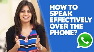 How to speak effectively over the phone? - English lesson - Telephone skills width=