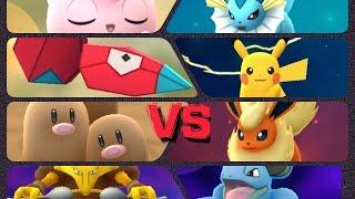 getlinkyoutube.com-Pokémon GO Gym Battles LEVEL 8 gym Pikachu Dugtrio Jigglypuff  Alakazam Kabutops & more