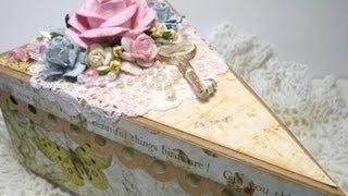 getlinkyoutube.com-Stunning Cricut Cake Box and Card - WOC