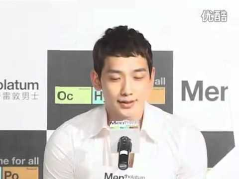 [Rain (Bi) News]110413 Rain @ Youku News_ Mentholatum Press Con in Shanghai