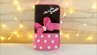 getlinkyoutube.com-Diy funda para telefono movil celular de Minnie Mouse | Manualidades fáciles |Isa ❤️