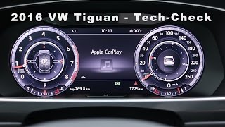 getlinkyoutube.com-2016 VW Tiguan Tech-Check - Infotainment-System - CarPlay - Rückfahrkamera - 3D View