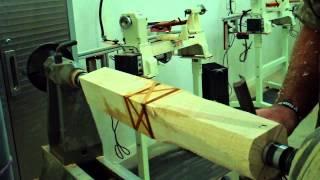 getlinkyoutube.com-Wood Turning Rolling Pin Part 1