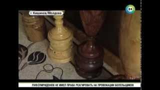 getlinkyoutube.com-Мастер создает уникальные вазы из цельного куска дерева
