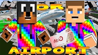 Minecraft - Little Donny Adventures - WORKING IN THE AIRPORT w/ DONUT THE DOG