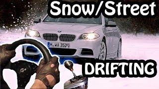 getlinkyoutube.com-BMW m5 F10 Snow Street Drifting - City Car Driving 1.3.2 Winter Mod
