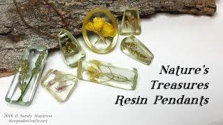 getlinkyoutube.com-Nature's Treasures -Resin Pendant Jewelry Tutorial