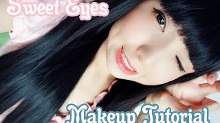 getlinkyoutube.com-Sweet eyes makeup tutorial ~ Latin ulzzang
