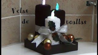 getlinkyoutube.com-Velas de Toallas  para Navidad