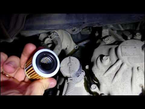 ... C Crosser 2,4 Ситроен Си Кроссер 2007 Замена масла и фильтра теплообменника в вариаторе