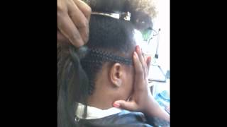 getlinkyoutube.com-Two Ways To Do Close Cornrows Swoop Updo