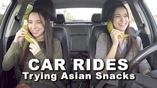 getlinkyoutube.com-Car Rides - Trying Asian Snacks