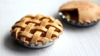 getlinkyoutube.com-DIY: Miniature Apple Pie Polymer Clay Tutorial