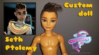 getlinkyoutube.com-Monster High PHARAOH custom doll faceup Seth Ptolemy