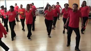 getlinkyoutube.com-Be Happy Line Dance - Bowden Line Dancers