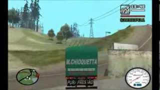 getlinkyoutube.com-Scania 112hw, Chevrolet D-60 Cavalo Mecânico, Graneleira Verde e Carreta Caçamba GTA San Andreas