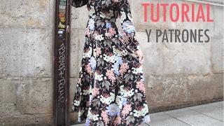 DIY Costura: Vestido largo de mujer (patrones gratis)