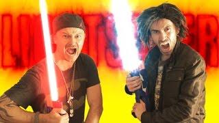 getlinkyoutube.com-Nerf War: LIGHTSABER Gun!
