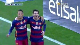 getlinkyoutube.com-Golazo De Messi Pero Es Gol De Suarez MSN Neymar Barcelona Ante Granada 9-1-2016 Liga BBVA