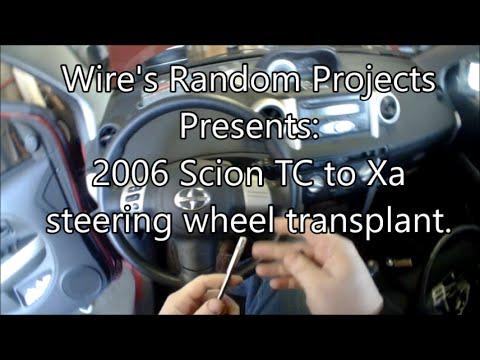 WRP 2006 Scion TC to XA steering wheel transplant
