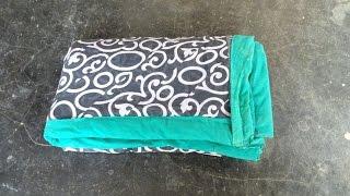 getlinkyoutube.com-How to Make Bonta ( Old Sarees Tho Small Bed) by Amma Arts