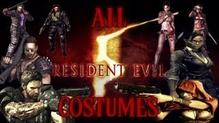 getlinkyoutube.com-Resident Evil 5: All Costumes (How to Unlock & Gameplay Show Off)