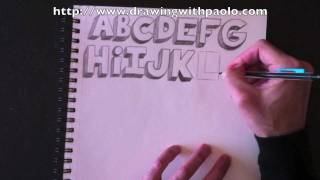 getlinkyoutube.com-Dessiner l'alphabet 3D avec Paolo Morrone