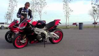 getlinkyoutube.com-Italian V-Four Literbike Shootout: Aprilia RSV4 Factory vs. Ducati Desmosedici